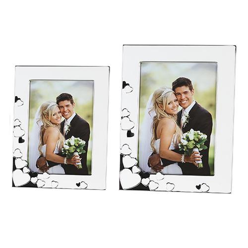 Fotorahmen Amore weiß silber 10x15cm