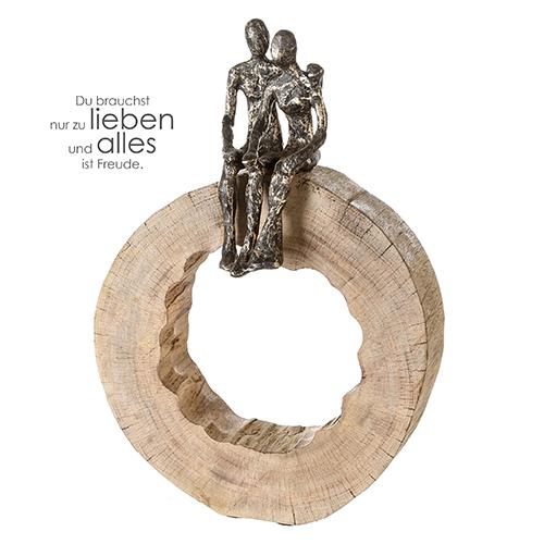 Skulptur Together Mangoholz Alu Casablanca Design